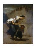 The Burden, 1850-1852 Lámina giclée por Honore Daumier