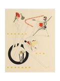 Title Sheet of Victory over the Sun by A. Kruchenykh, 1923 Impressão giclée por El Lissitzky
