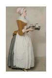 The Chocolate Girl (La Belle Chocolatière De Vienn), C. 1745 Lámina giclée por Jean-Étienne Liotard