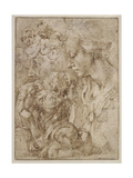 Studies for a Holy Family with John the Baptist as Child  1505