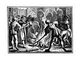 Martin Luther Burning the Papal Bull, 1520 Giclée-tryk