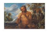 Satyr Playing the Pipe (Jupiter's Childhoo), Ca 1639 Giclee-trykk av Jacob Jordaens