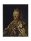 Portrait of Empress Catherine II (1729-179) Giclee Print by Alexander Roslin