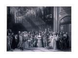 Christening of Edward VII, 1842 Giclee Print by George Hayter