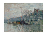 View of the Prins Hendrikkade and the Kromme Waal in Amsterdam, 1874 Giclee Print by Claude Monet