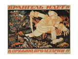 Wrangel Advances! Proletarians to Arms!, 1920 Reproduction procédé giclée par Nikolai Mikhaylovich Kochergin
