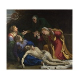 The Dead Christ Mourned (The Three Marie), Ca 1604 Giclée-tryk af Annibale Carracci