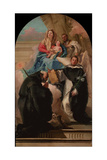 Madonna and Child with Three Saints, Ca 1760 Giclée-tryk af Giandomenico Tiepolo