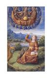 The Holy Trinity (From Lettres Bâtarde), Ca 1490-1510 Gicléetryck av Jean Poyet