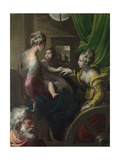 The Mystical Marriage of Saint Catherine, C. 1527-1530 Giclee Print by  Parmigianino