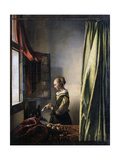 Girl Reading a Letter by an Open Window, Ca 1659 ジクレープリント : ヨハネス・フェルメール