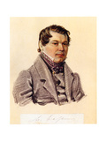 Portrait of Decembrist Mikhail Naryshkin (1798-186), 1832-1833 Giclee Print by Nikolai Alexandrovich Bestuzhev
