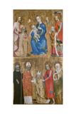 Votive Painting of Archbishop Jan Ocko of Vlasim, Ca 1370 Gicléetryck