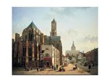 View of the Choir and Tower of Utrecht Cathedral, C. 1829 Giclée-Druck von Jan Hendrik Verheyen