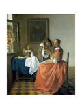 The Girl with the Wineglass, 1659-1660 Giclée-Druck von Johannes Vermeer