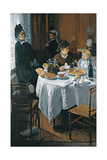 The Luncheon (Le Déjeune) Giclée-Druck von Claude Monet
