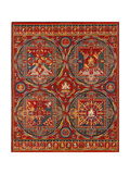 Sakya Order, Four Mandalas of the Vajravali Series (Thangk) Lámina giclée
