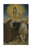 The Virgin and Child with Saints Anthony Abbot and George, C. 1440 Giclée-tryk af Antonio Pisanello