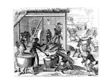 Sugar Production, 1873 Giclée-vedos tekijänä Theodore de Bry