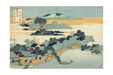 Bamboo Hedge at Kumemura (Kumemura Chikur), from the Series Eight Views of the Ryukyu Islands Impressão giclée por Katsushika Hokusai