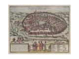 The Jerusalem Map (From: Jansson, Jan. Illustriorum Hispaniae Urbium Tabulae, Amsterdam, 165), 1657 Giclée-Druck von Frans Hogenberg