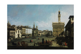The Piazza Della Signoria in Florence, 1742 Reproduction procédé giclée par Bernardo Bellotto