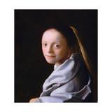 Study of a Young Woman, Ca. 1665-1667 Giclée-Druck von Johannes Vermeer