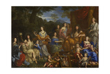 Louis XIV and the Royal Family, 1670 Giclee Print by Jean Nocret