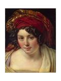 Head of a Woman in a Turban, Ca 1820 Giclée-tryk af Anne-Louis Girodet de Roussy-Trioson
