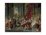 The Family of Philip V, King of Spain, 1743 Giclée-Druck von Louis Michel Van Loo