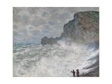Rough Weather at Étretat, 1883 Giclee Print by Claude Monet