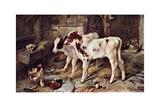 The Dog in the Manger, 1885 Giclée-tryk af Walter Hunt