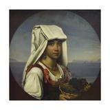 Neapolitan Girl with Fruits, 1831 Giclee Print by Orest Adamovich Kiprensky