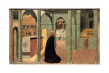 Saint Thomas Aquinas in Prayer, Ca 1428-1432 Giclée-tryk af Sassetta,