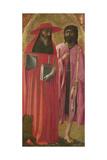 Saints Jerome and John the Baptist, Ca 1428-1429 Giclée-tryk af Masaccio,
