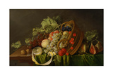 Still Life with a Basket of Fruit, Ca 1654 Giclee Print by Cornelis de Heem