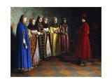 Tsar Alexei Mikhailovich Choosing a Bride, 1882 Giclée-Druck von Grigori Semyonovich Sedov