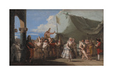 The Triumph of Pulcinella, 1760-1770 Giclée-tryk af Giandomenico Tiepolo