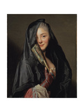 The Lady with the Veil (The Giclée-tryk af Alexander Roslin