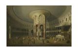 London: Interior of the Rotunda at Ranelagh, 1754 Impressão giclée por  Canaletto