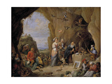 The Temptation of Saint Anthony, Mid of 17th C Giclée-Druck von David Teniers the Younger