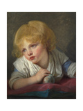 A Child with an Apple, Second Half of the 18th C Giclee Print by Jean-Baptiste Greuze