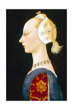 A Young Lady of Fashion, 1462-1465 Gicléetryck av Paolo Uccello