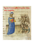 Zoroaster with Two Demons (Miniature from Pseudo-Aristotle Secretum Secretoru), 1425 Giclee Print