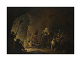 The Rich Man Being Led to Hell, C. 1647-1648 Giclée-Druck von David Teniers the Younger
