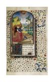 King David in Prayer (Book of Hour), 1450-1499 Gicléetryck