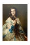Nadezhda Nikolayevna Rimskaya-Korsakova Née Purgold, C. 1870 Reproduction procédé giclée par Franz Xaver Winterhalter
