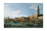 Return of Il Bucintoro on Ascension Day, 1745-1750 Impressão giclée por  Canaletto