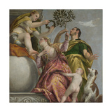 Happy Union (From: Four Allegories of Lov), Ca. 1575 Giclée-tryk af Paolo Veronese