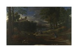 Landscape with a Man Killed by a Snake, 1648 Giclee Print by Nicolas Poussin